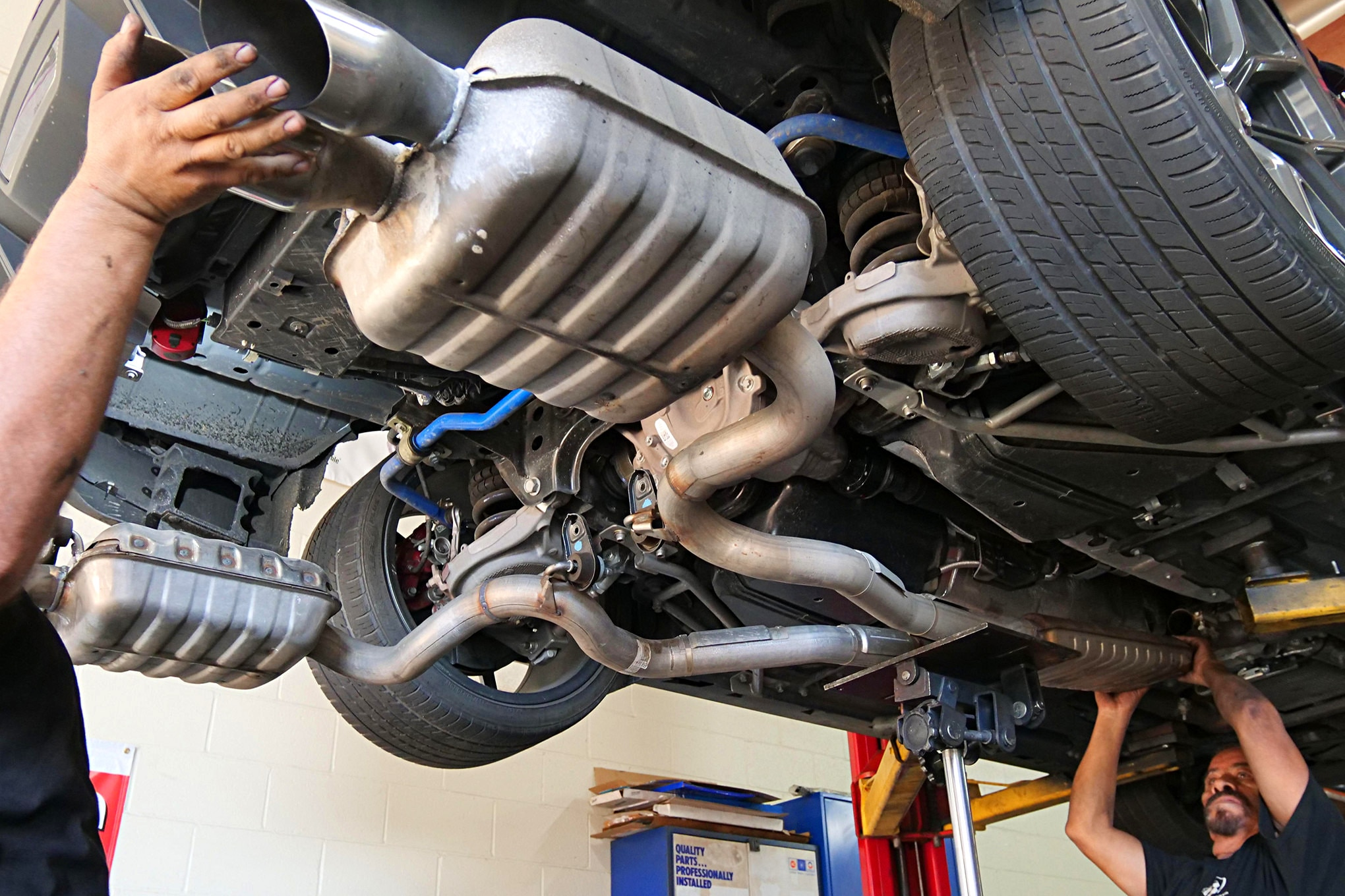 002 Mustang Exhaust Removal Cat Back