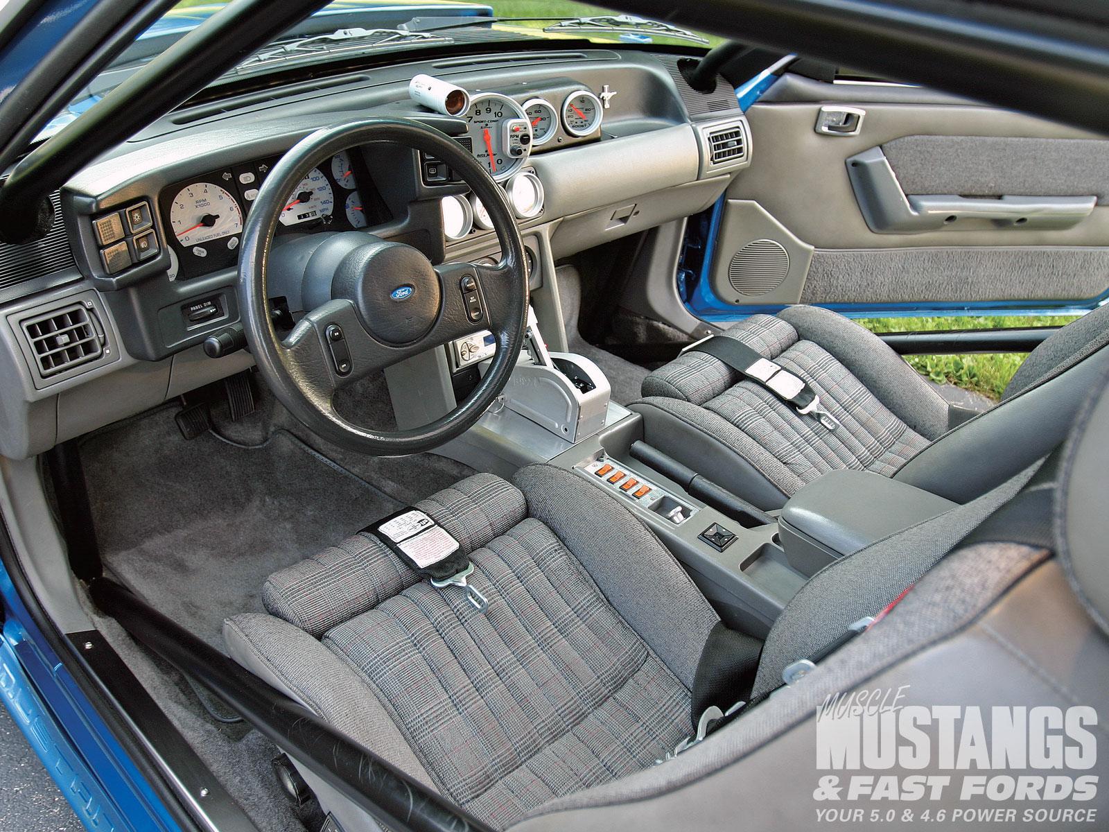 1989 Mustang Black Interior