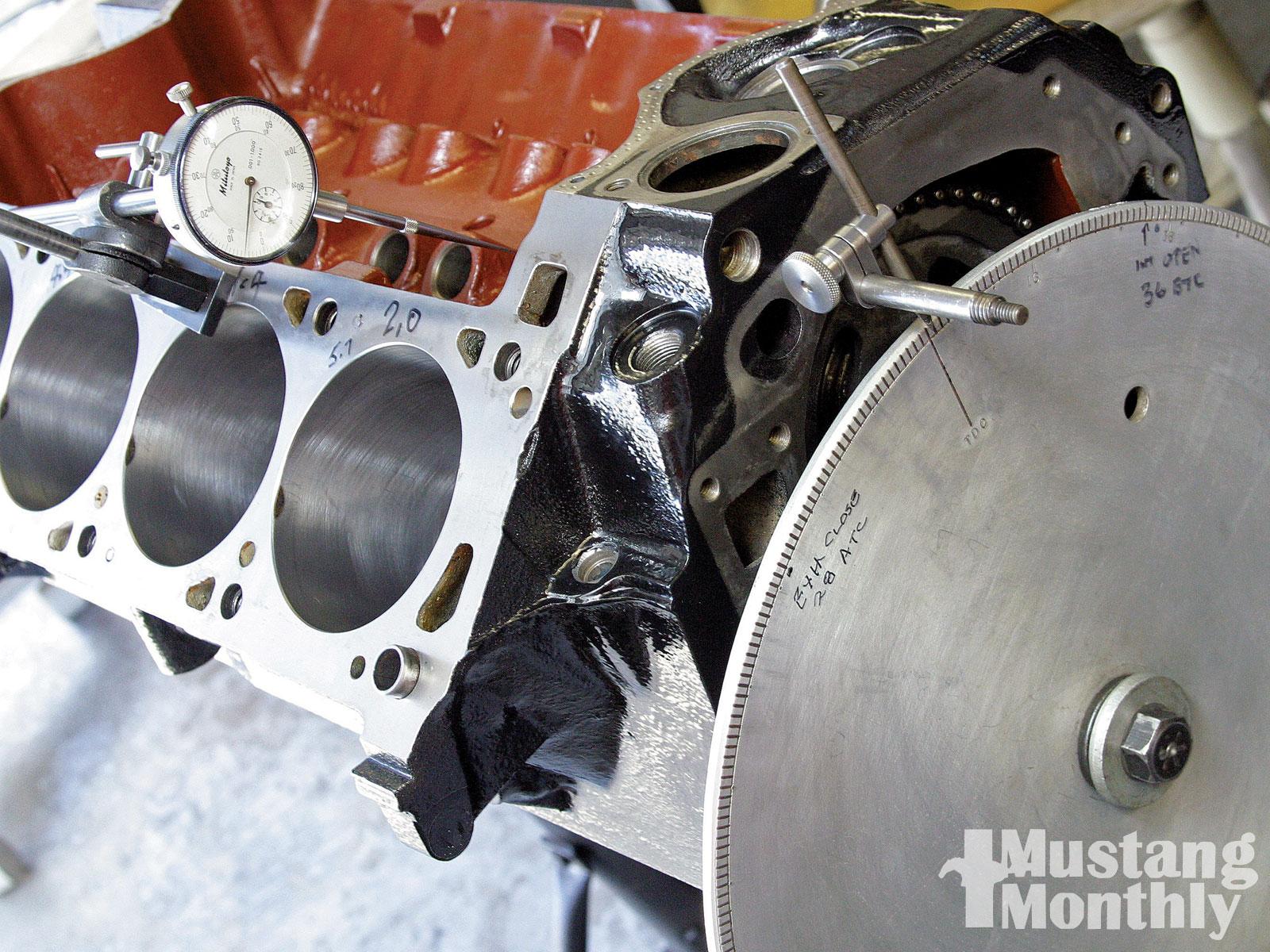 Mump 1006 13 O 351 Cleveland Four Barrel Engine Degrees Camshaft And True Top Dead Center