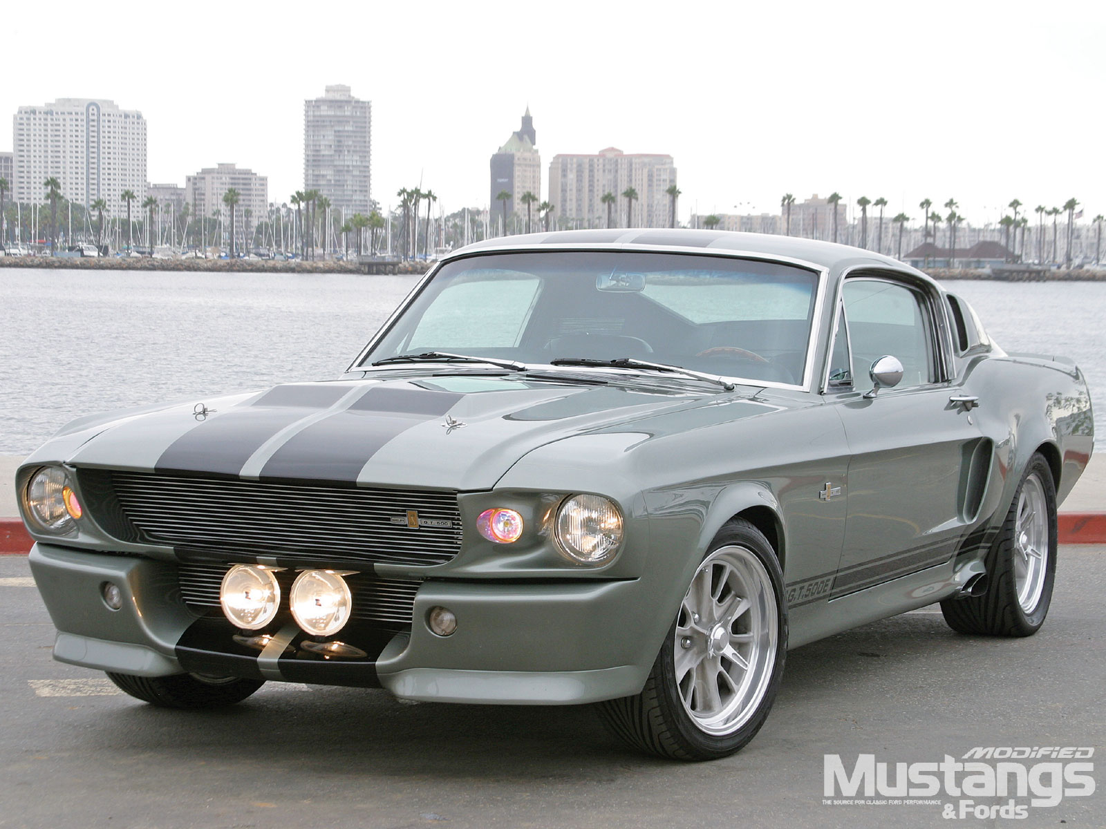 1967 Mustang Eleanor Replica Front Angle