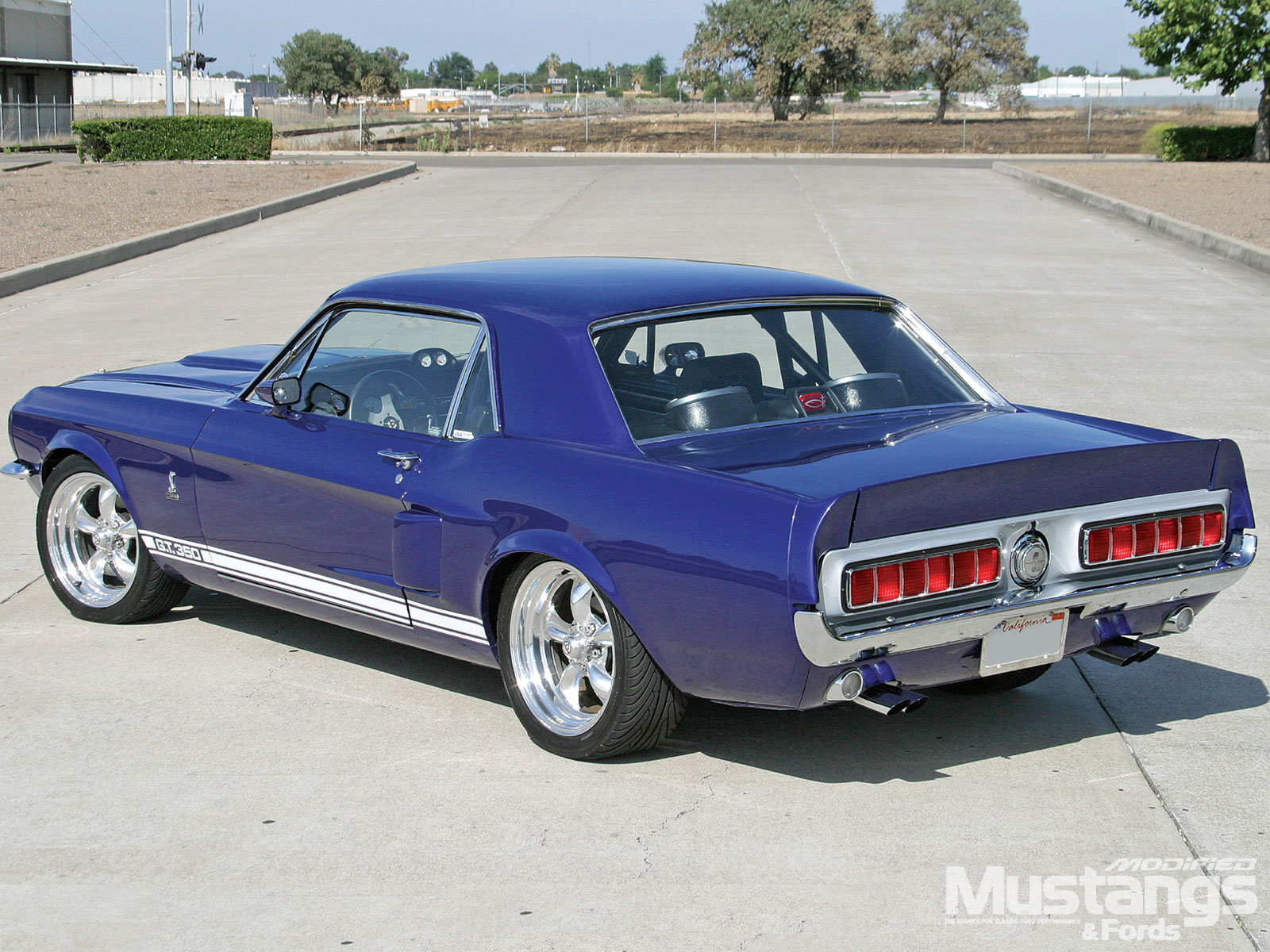 1967 Mustang Coupe Rear View