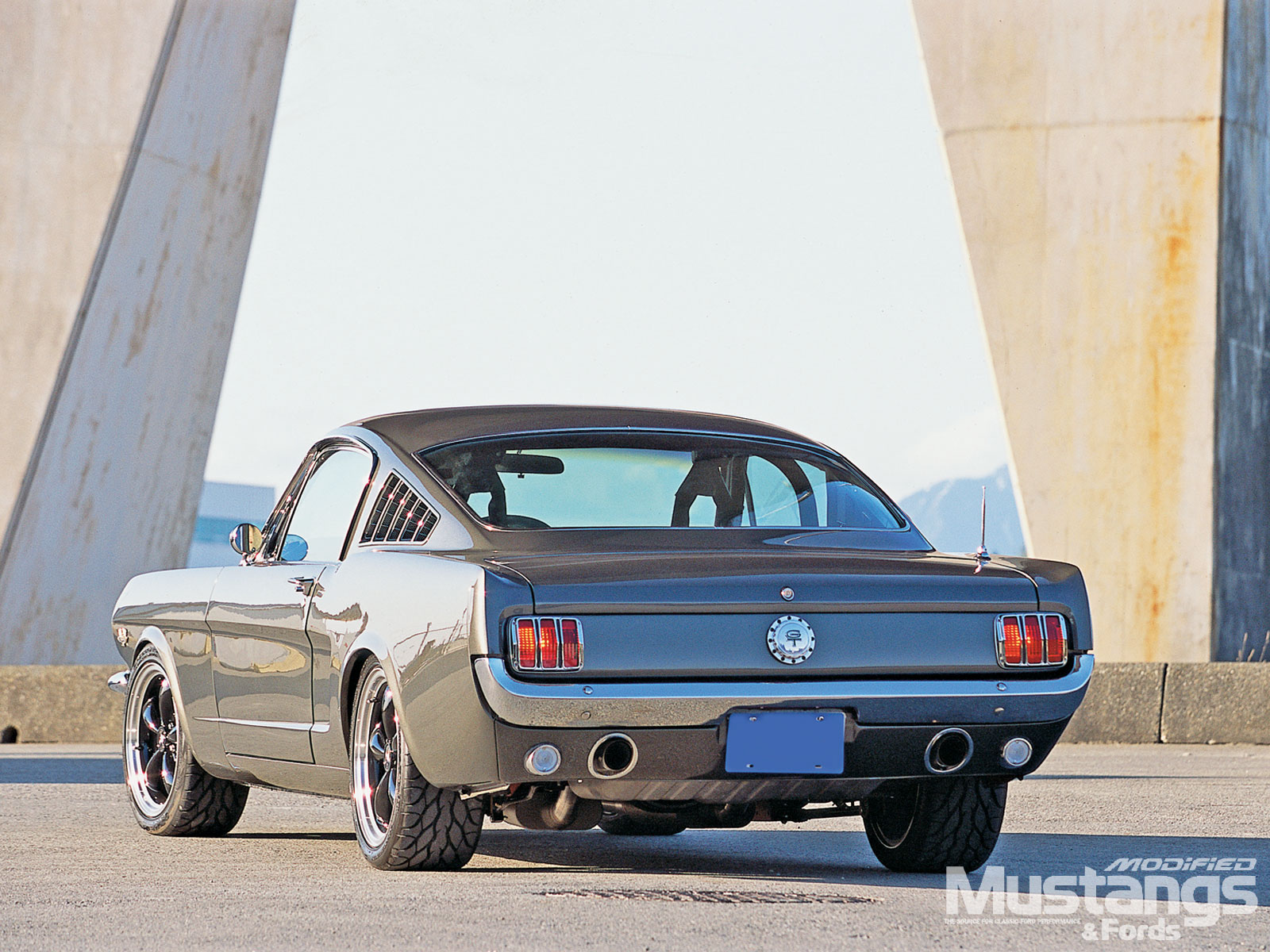 1965 Ford Mustang Fastback Back View