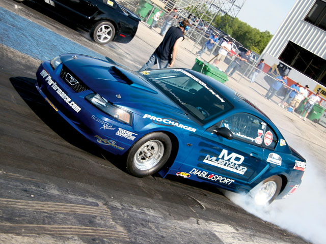 World Ford Challenge Blue Mustang