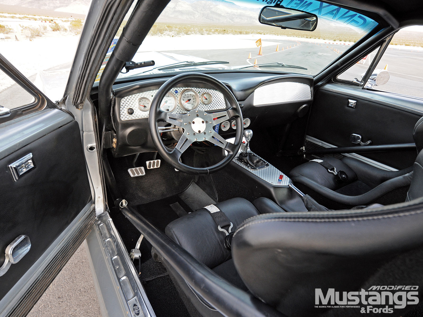 1968 Ford Mustang Fastback Steering Wheel And Dashboard