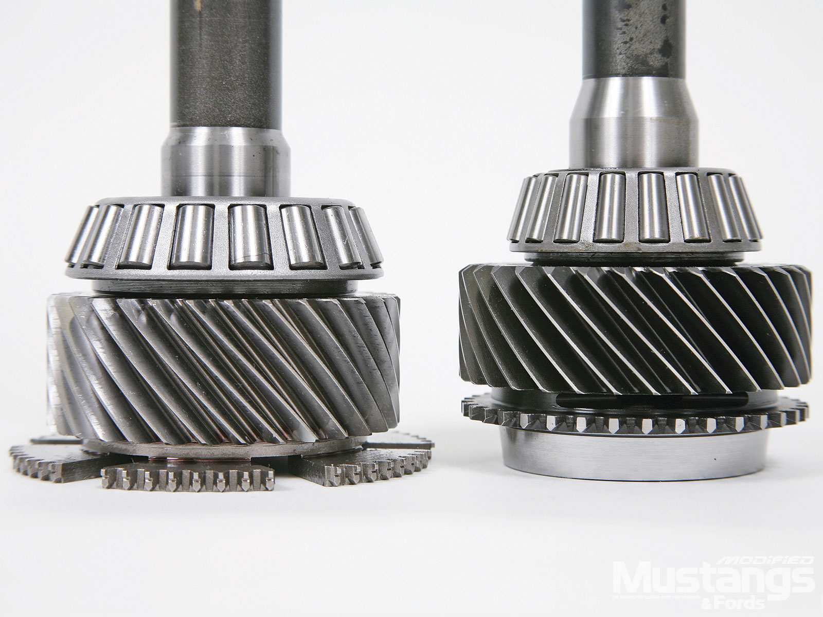 Magnum Six Speed Gear Box Input Shafts Comparison