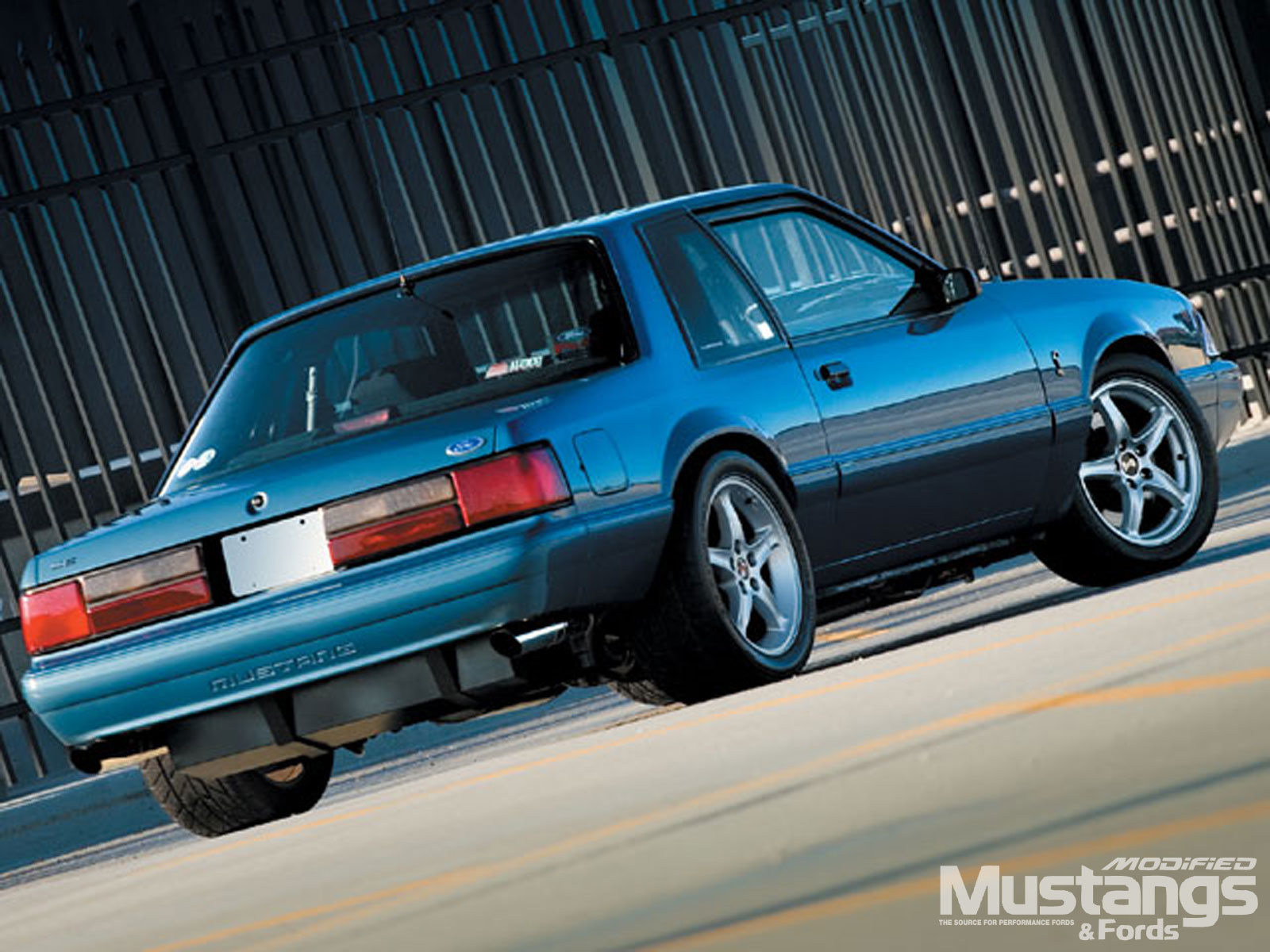 1987 Ford Mustang Lx Backview