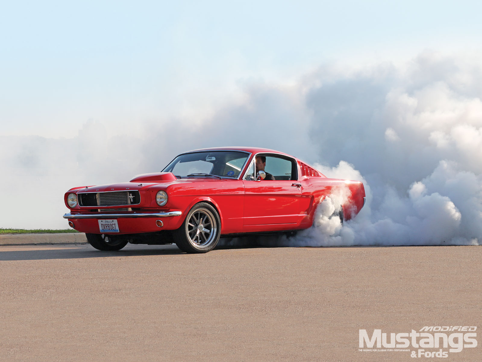 1965 Ford Mustang Fastback Burnout