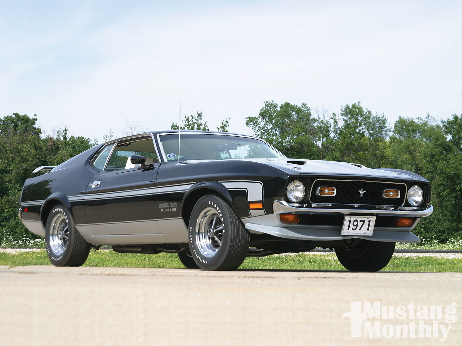 1971 ford mustang boss 351 boss in black photo image gallery