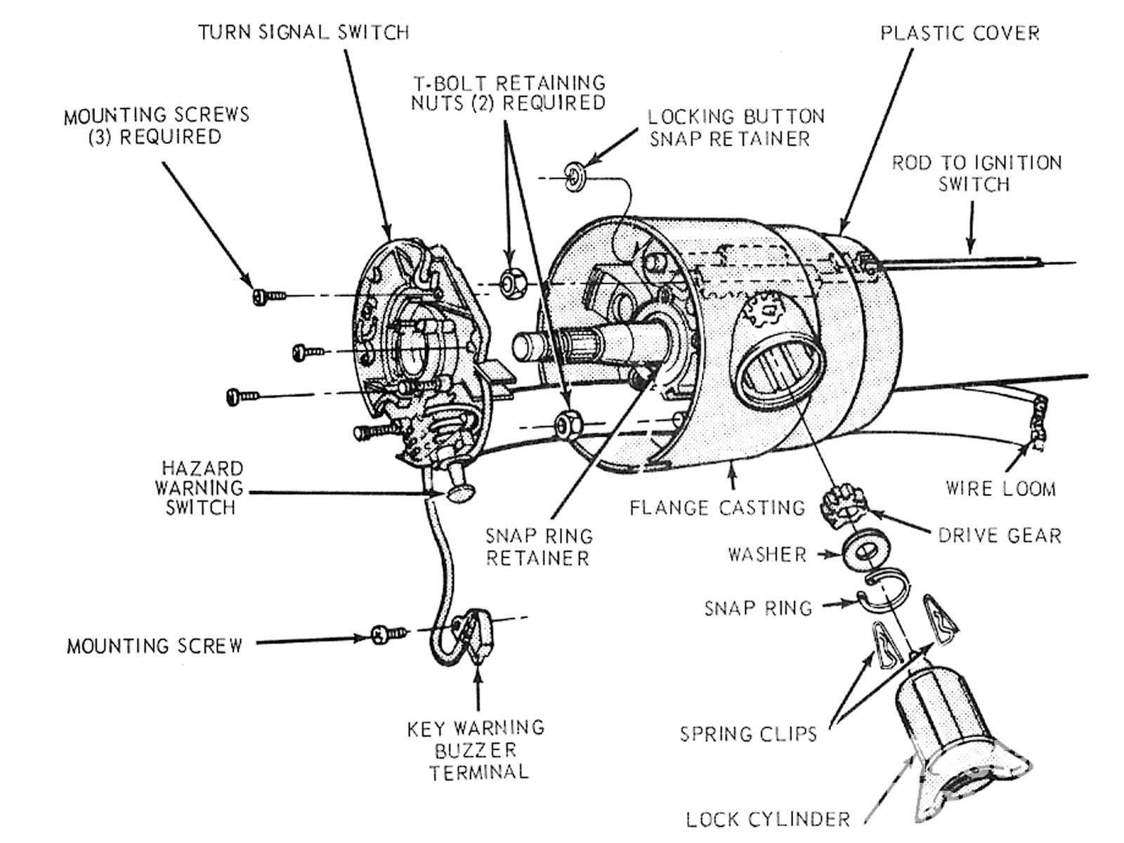 Mump 1012 03 +ford Mustang Locking Steering Columns