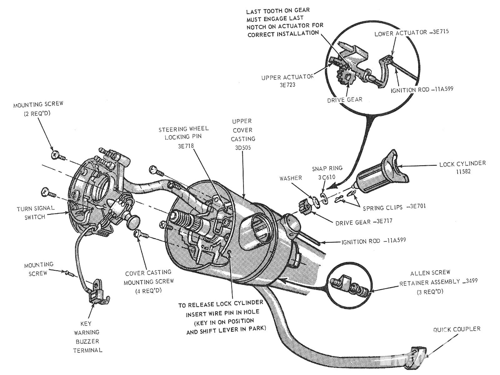 Mump 1012 04  Ford Mustang Locking Steering Columns