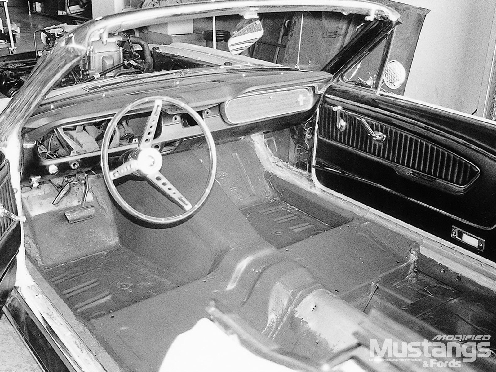 Lightening Strikes 1965 Mustang Convertible  Passenger Compartment