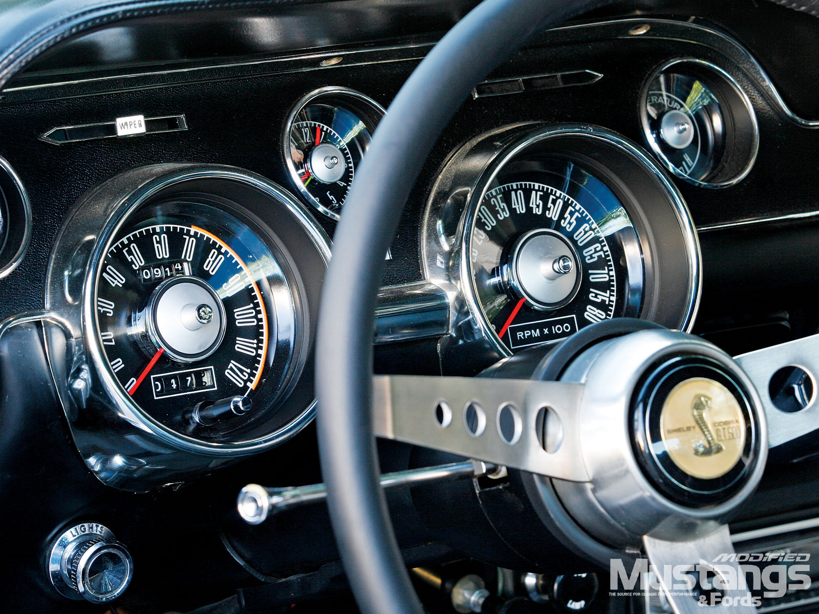 1968 Cobra Jet Fastback Auto Meter Gauges