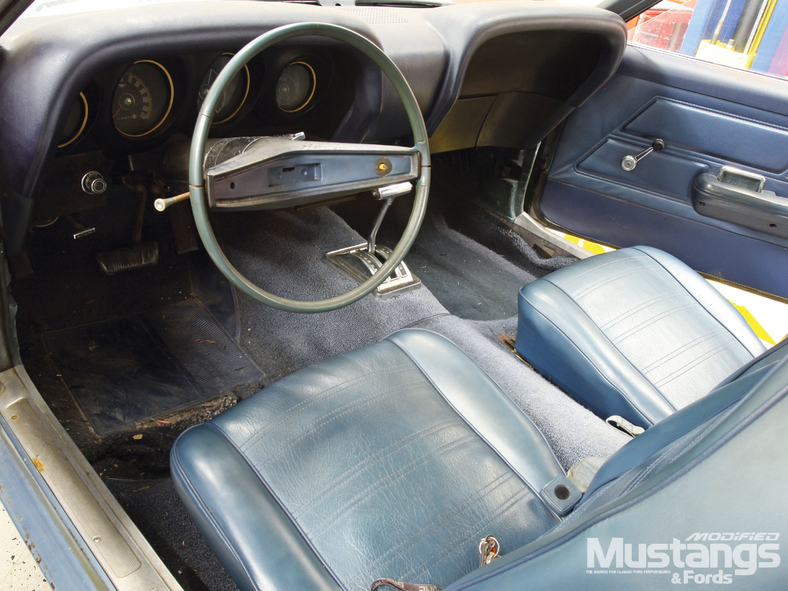1970 Ford Mustang Project High School Hauler Interior