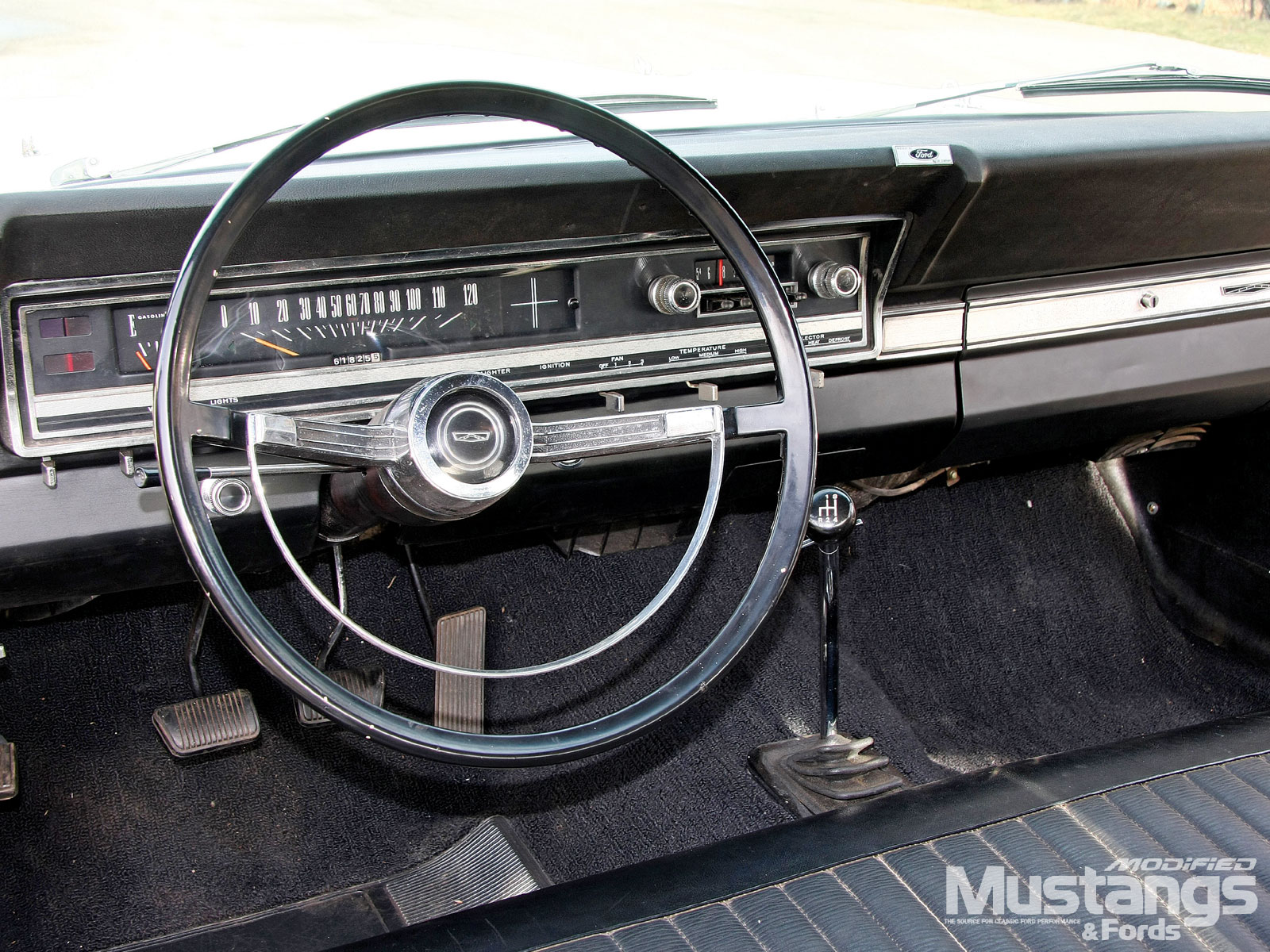 1966 Fairlane Interior Steering Wheel