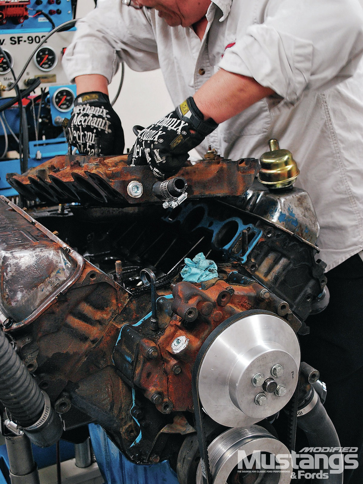 460 Big Block Build Intake Swap