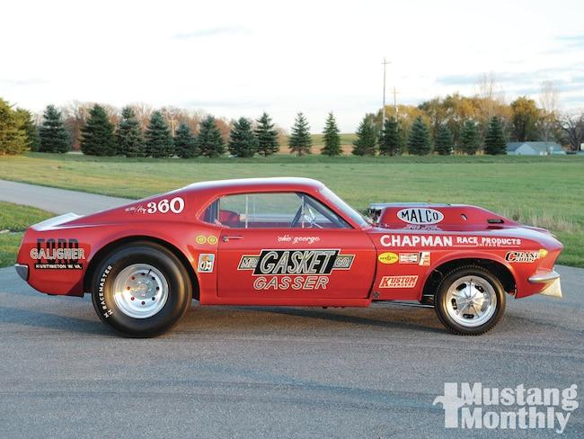 Mump 1106 01 1969 Mustang Mr Gasket Gasser Sideview