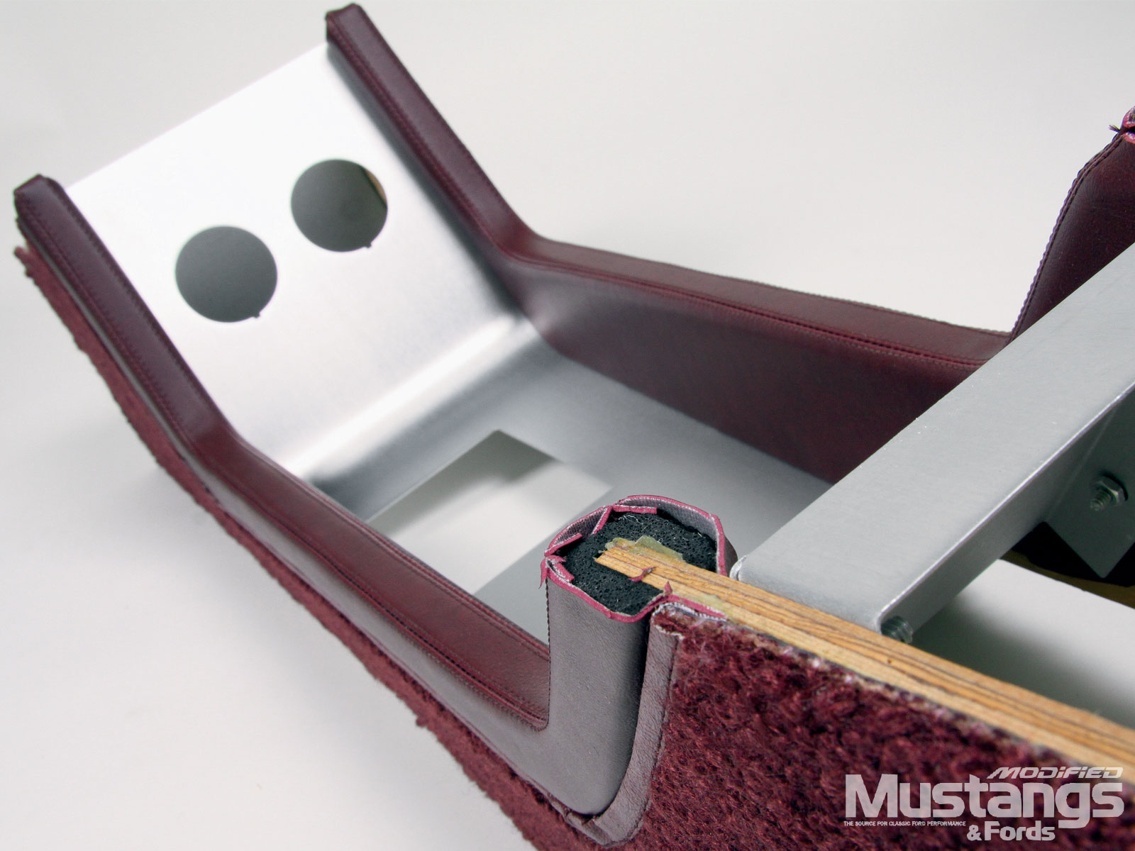 Mustang Console Skinned In Vinyl Or Leather