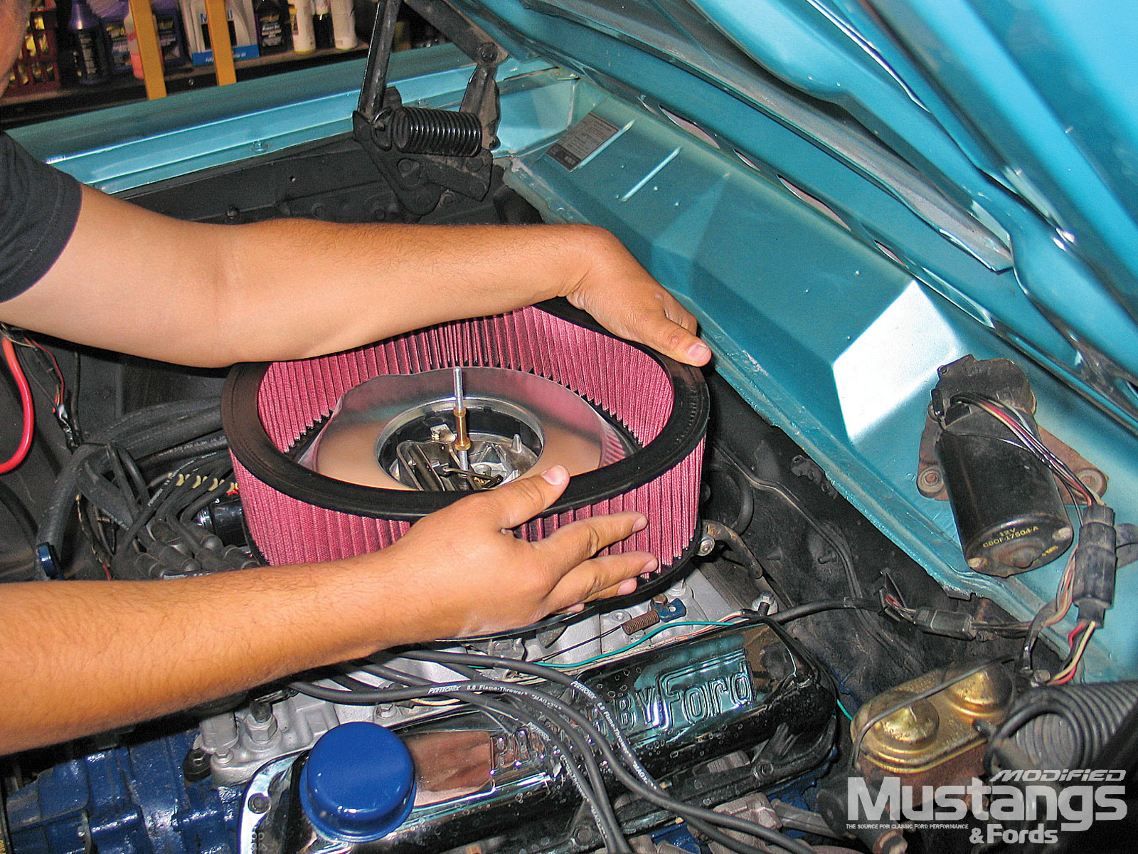 1968 Ford Torino Gt Remove Stock Air Cleaner Housing