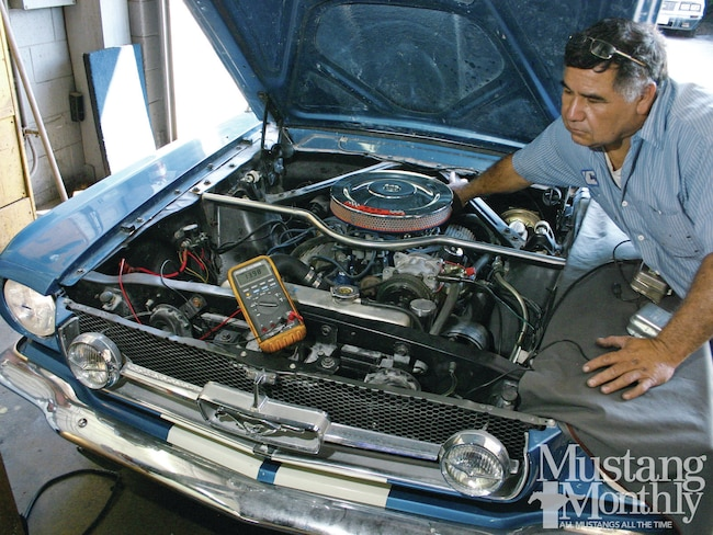 how-to: troubleshoot alternator charging systems - mustang monthly on  1957 chevy wiring diagram 1971 ford mustang wiring