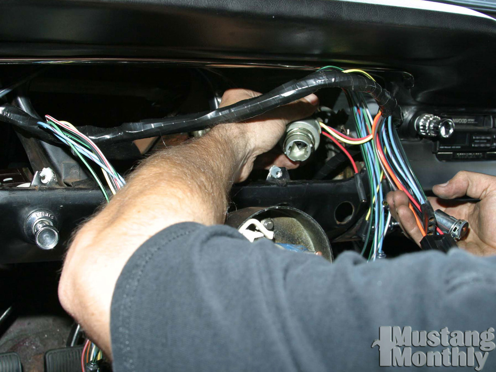 how to install a new wiring harness for your ford mustang mustang 1970 Mustang Wire Harness