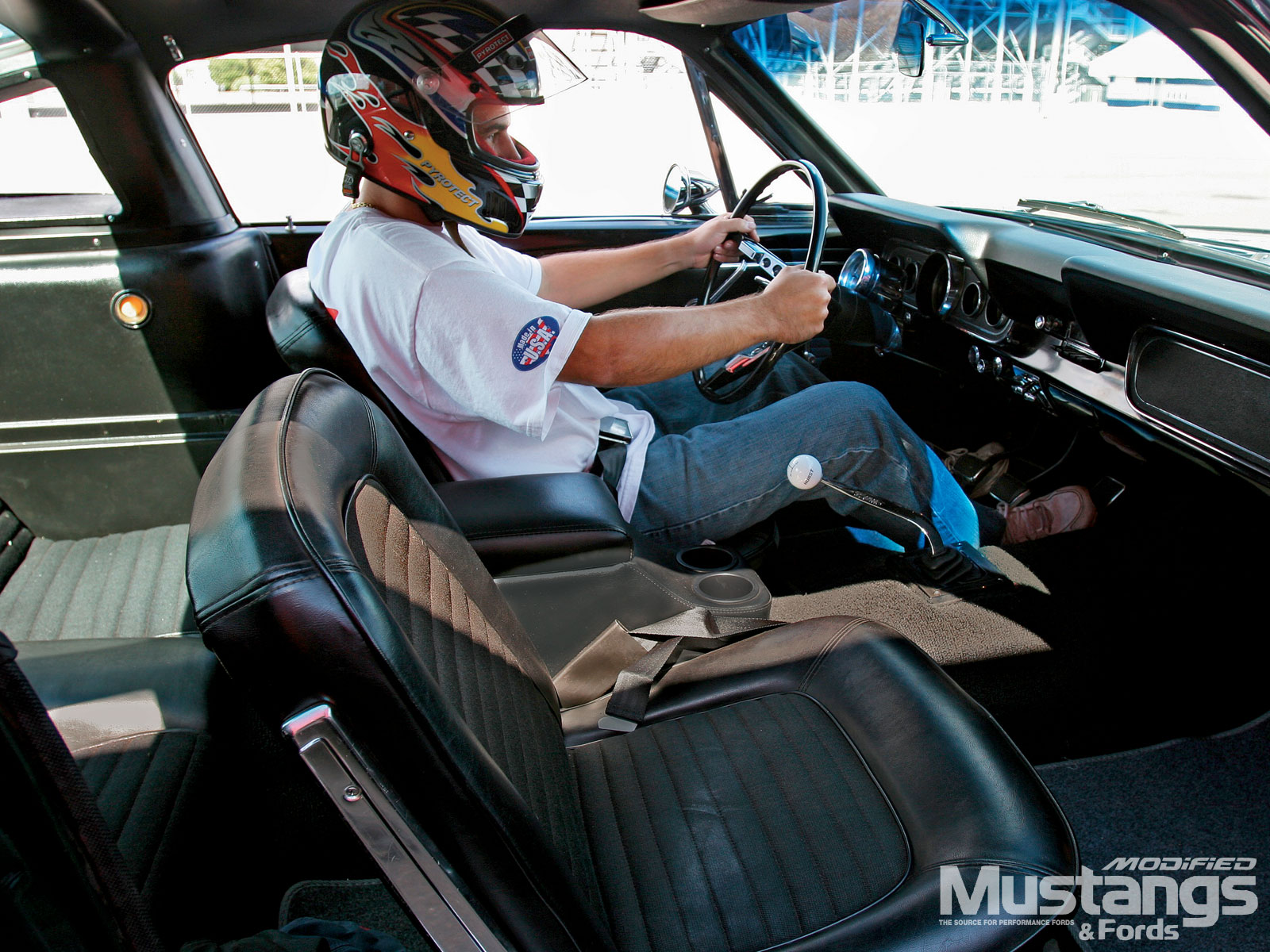 Classic Ford Drag Racing  Driving Position