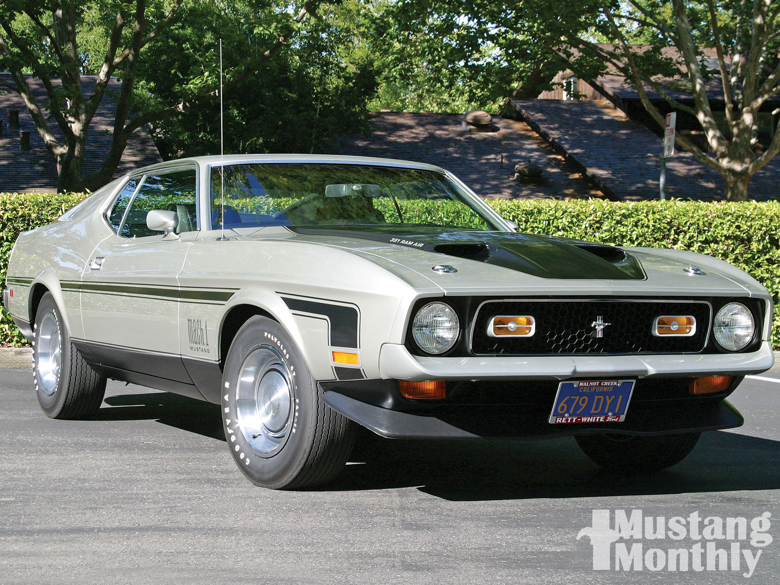 1971 ford mustang mach 1 pewter black photo gallery