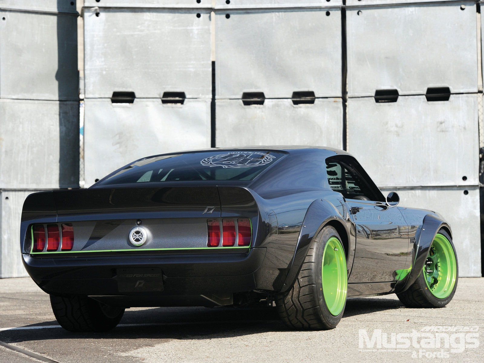 Mdmp 1111 1969 Speed Mustang Tire Smoke At Speed 015