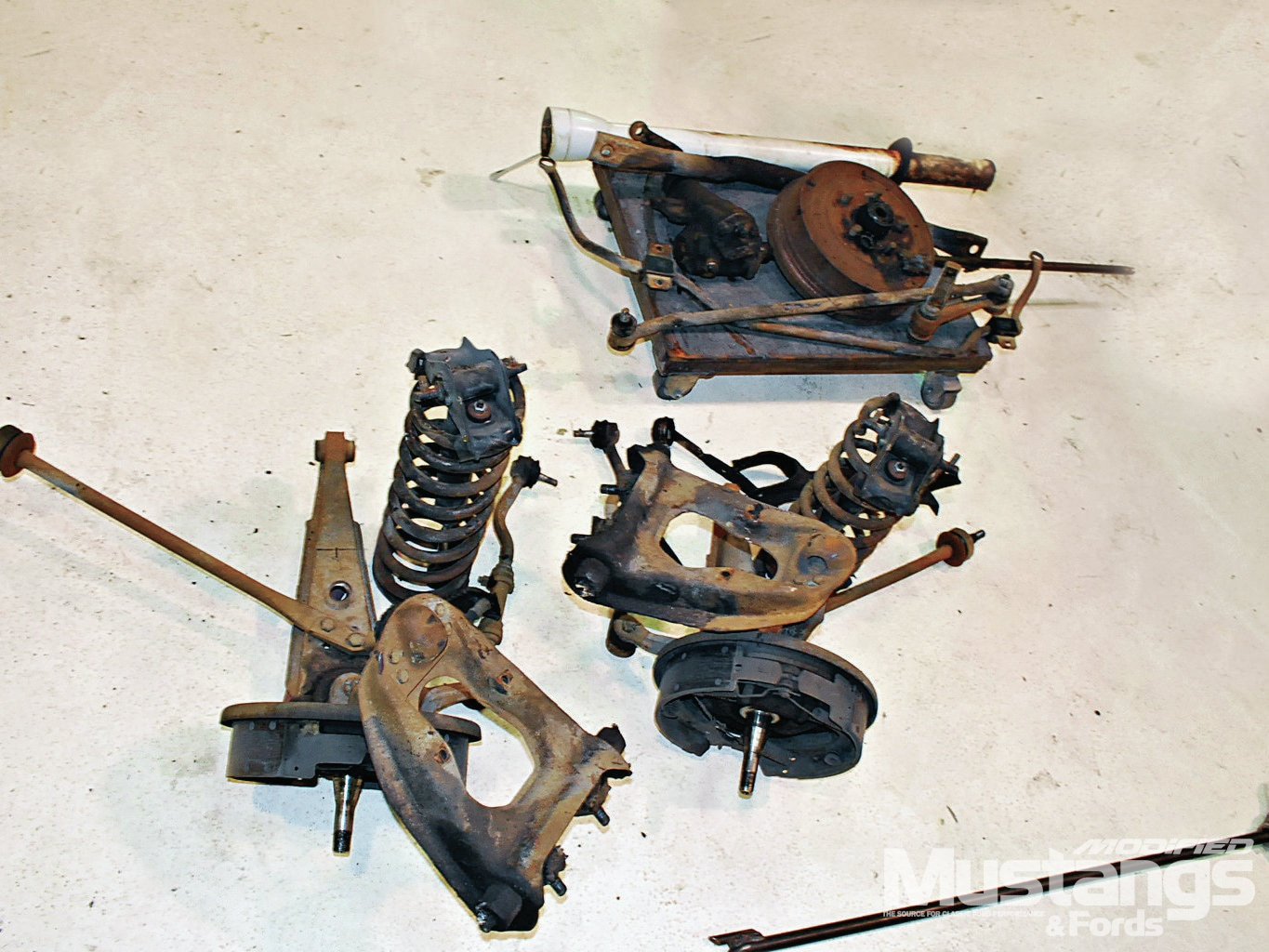 Mdmp 1209 02 Independent Front Suspension For Classic Mustangs On The Fast Track
