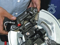 Mump 1202 17 How To Install Bolt On Power Disc Brakes Caliper Fitted And Checked For Centering