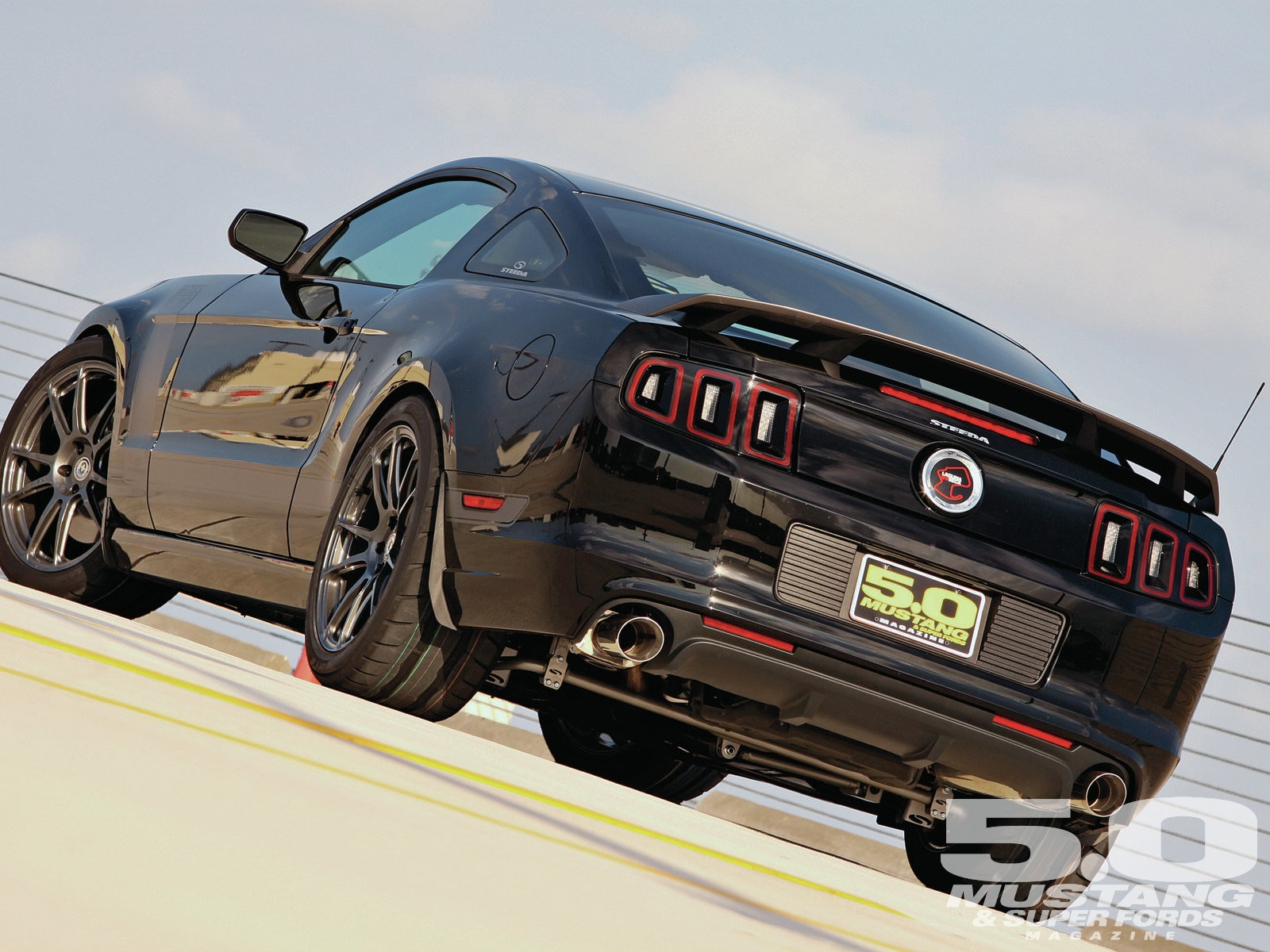 M5lp 1302 2013 Steeda Boss 302 LS Rear Three Quarters
