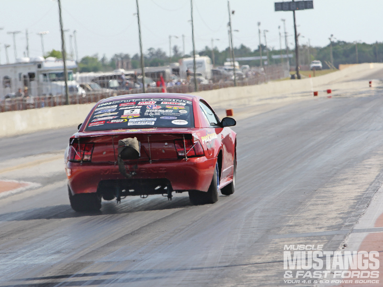 1307 2013 Nitto Nmra Spring Break Shootout Red Ford Mustang Rear