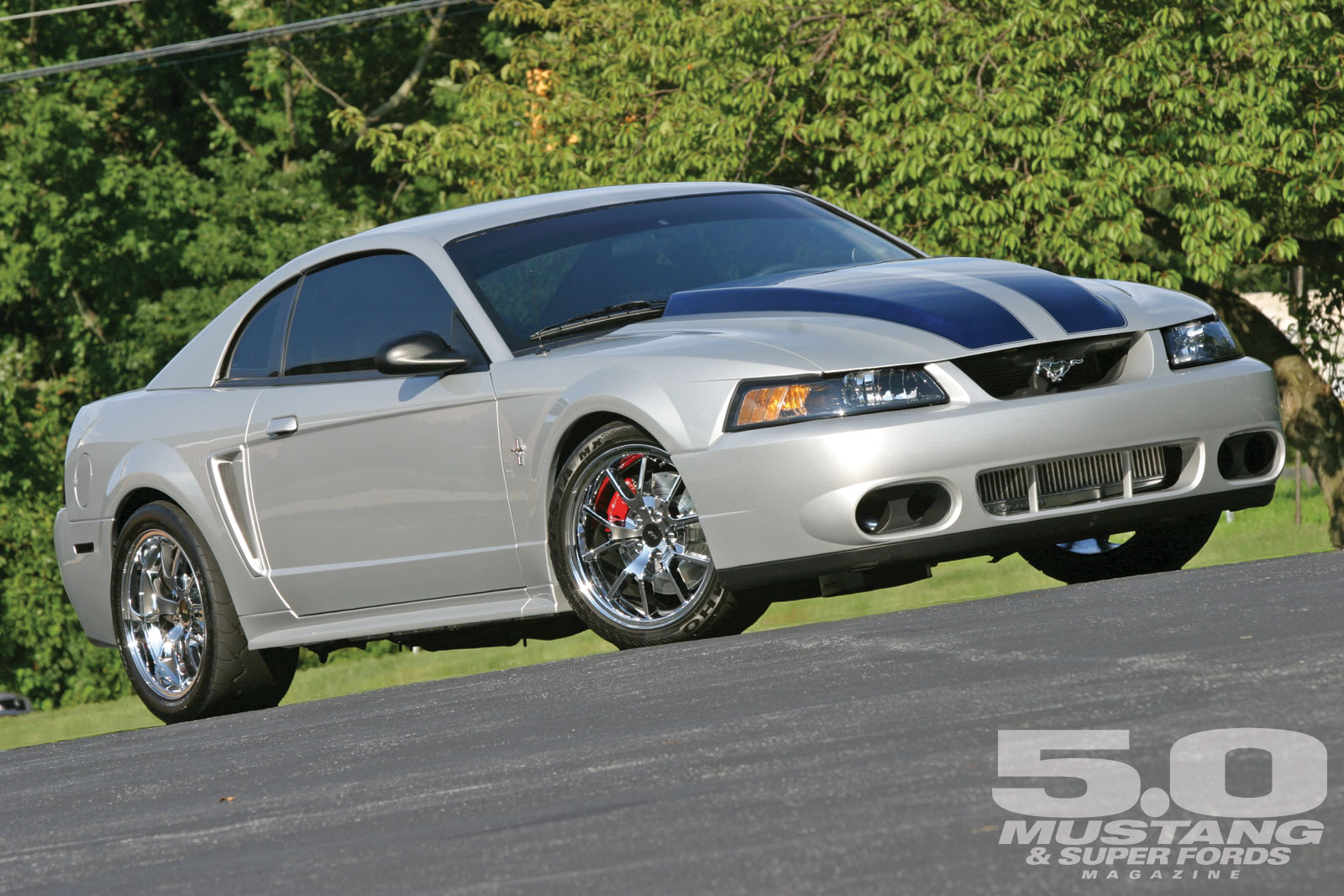 1999 Ford Mustang GT   Silver Metal