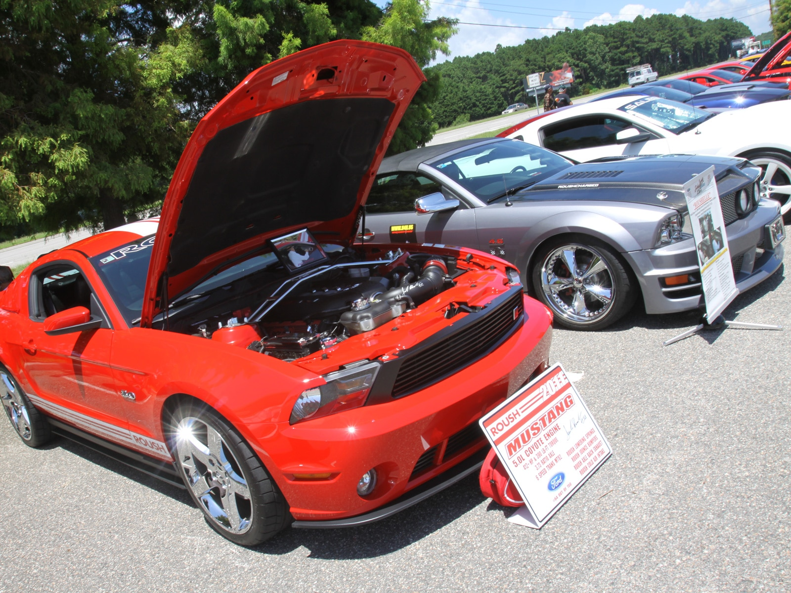 1308 Meet And Greet Two Ford Mustang Roush