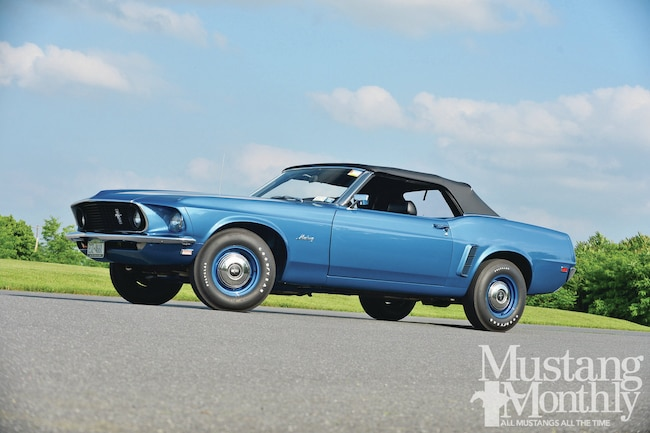 1969 Ford Mustang 428 Cobra Jet Convertible Drivers Side View