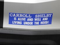 1401 Carroll Shelby Bumper Sticker