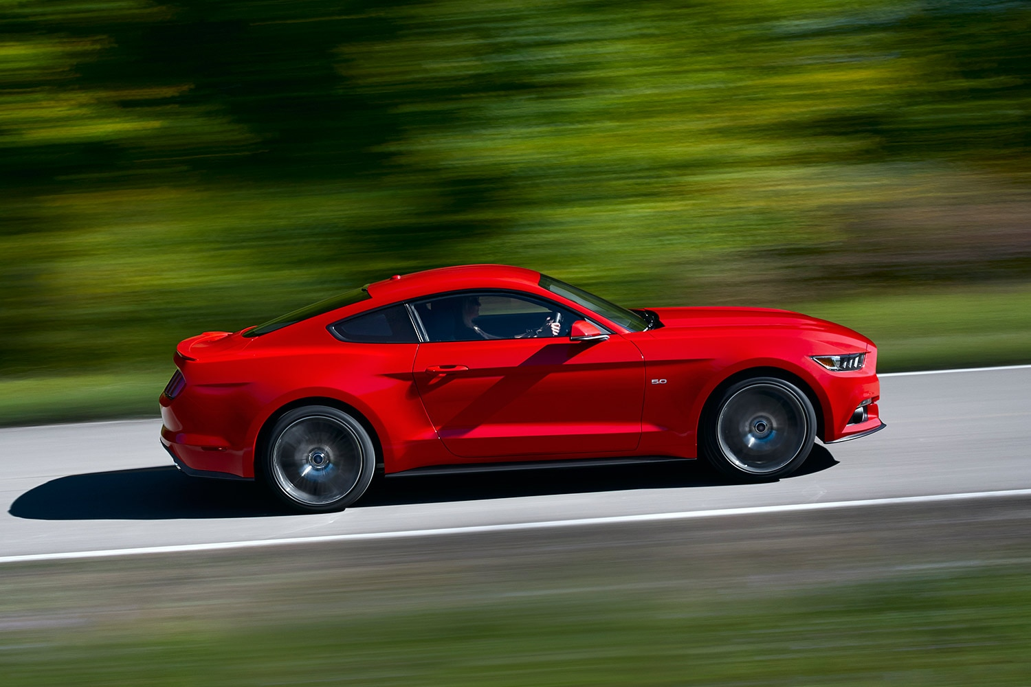 2015 Ford Mustang Side Driving