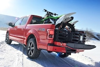 2015 Ford F150  5  Dirt Bike Loaded In Bed