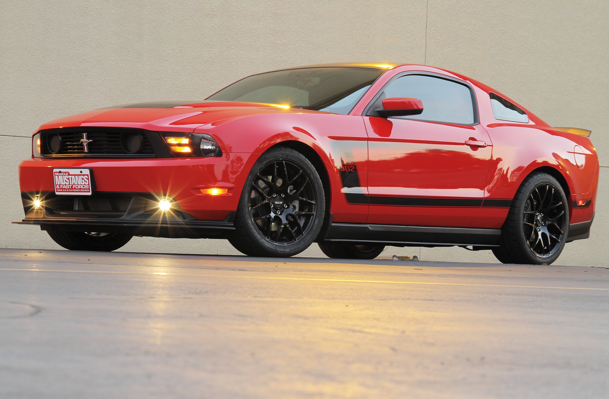 2011 Ford Mustang Gt Side Red
