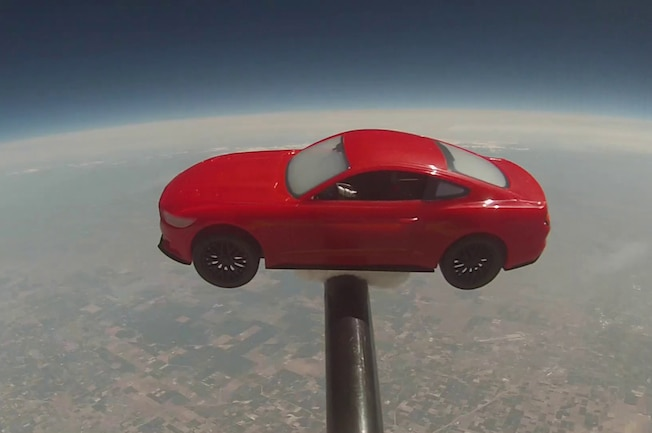 2015 Ford Mustang Model In Space