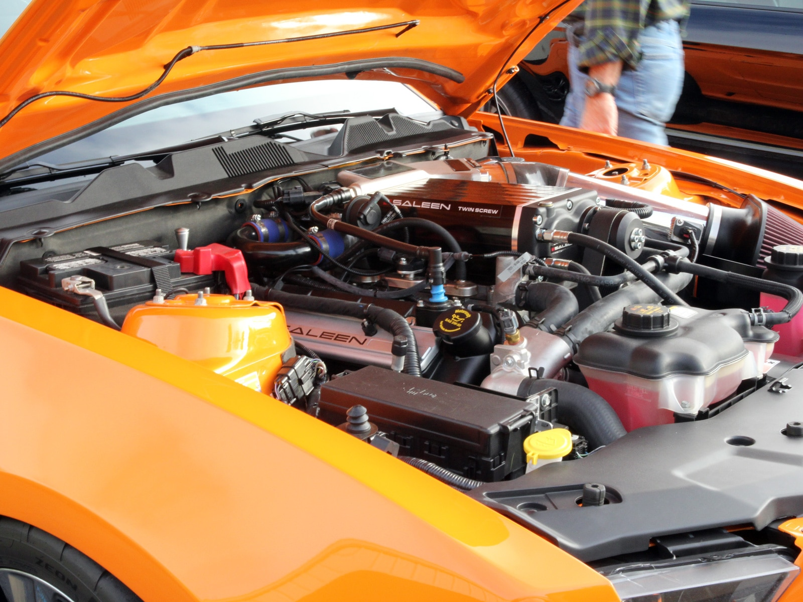 1401 2013 Saleen S351 Ford Mustang Orange Engine