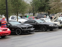 1401 Ford Mustangs Parked For Cruise