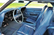 1970 Ford Mustang Sportsroof Interior Blue