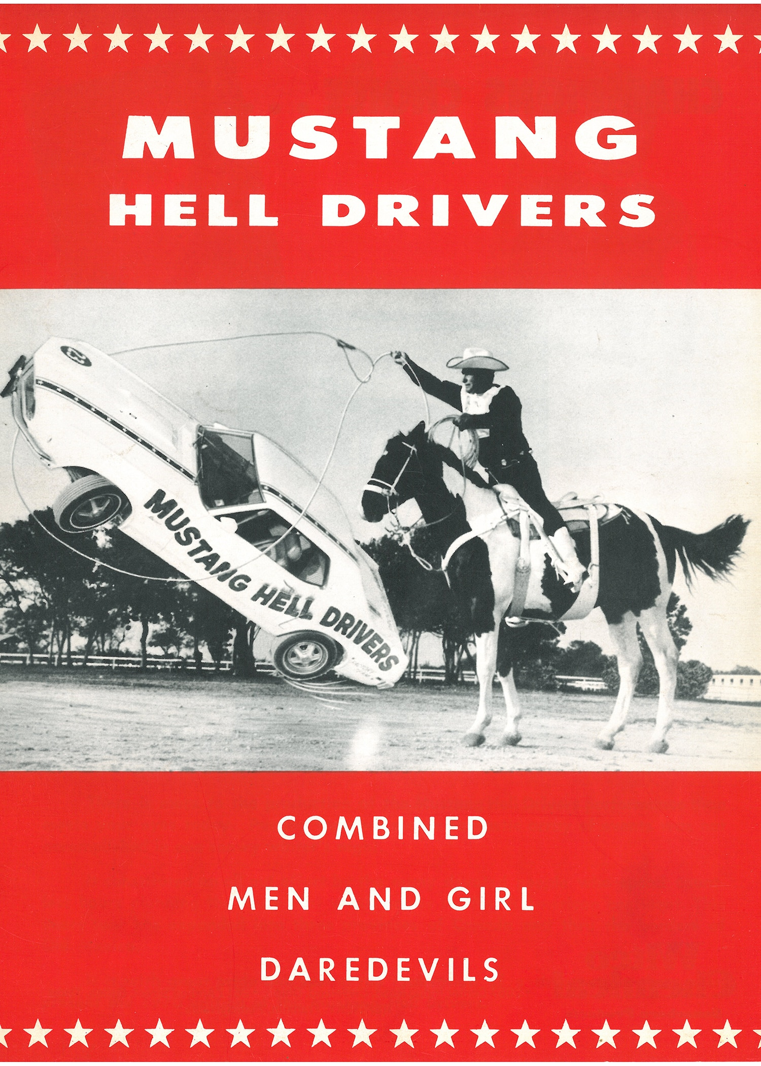 Ford Mustang Hell Drivers Poster Ad