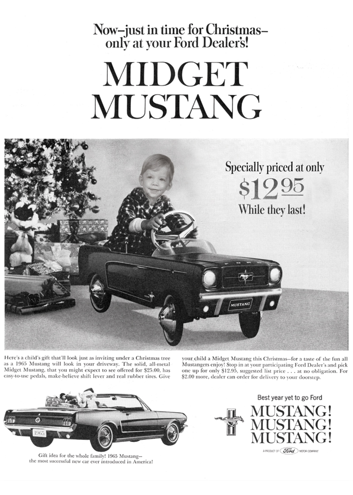 Ford Mustang Pedal Car Advertisement