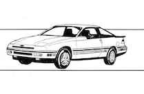 Ford Mustang Fourth Gen Sketch