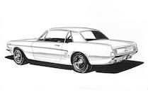 Donald Petersen Mustang Sketch