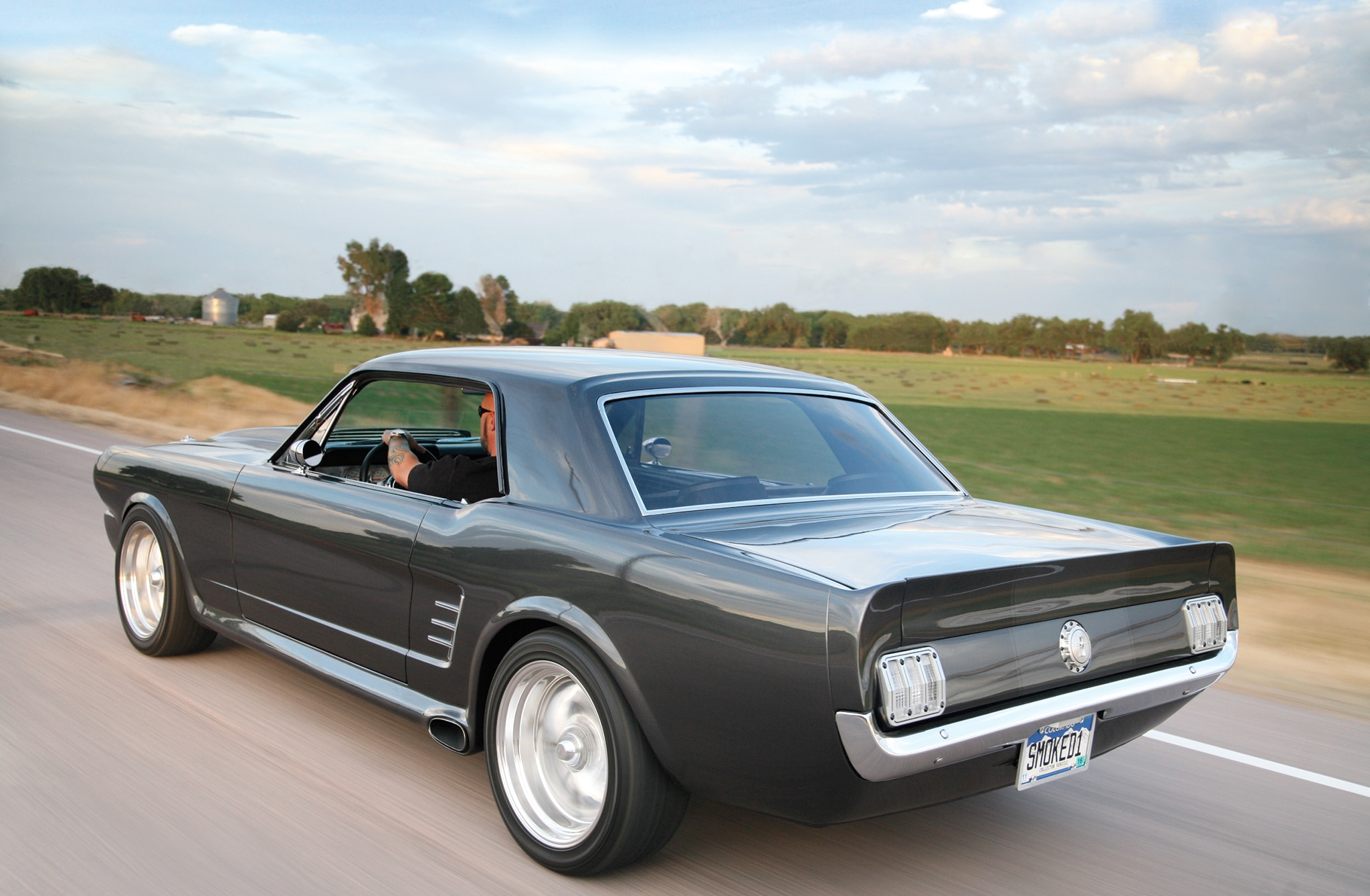 1966 Ford Mustang Coupe Rear Side View