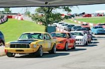 Ford Mustangs Hallett Motor Racing Circuit