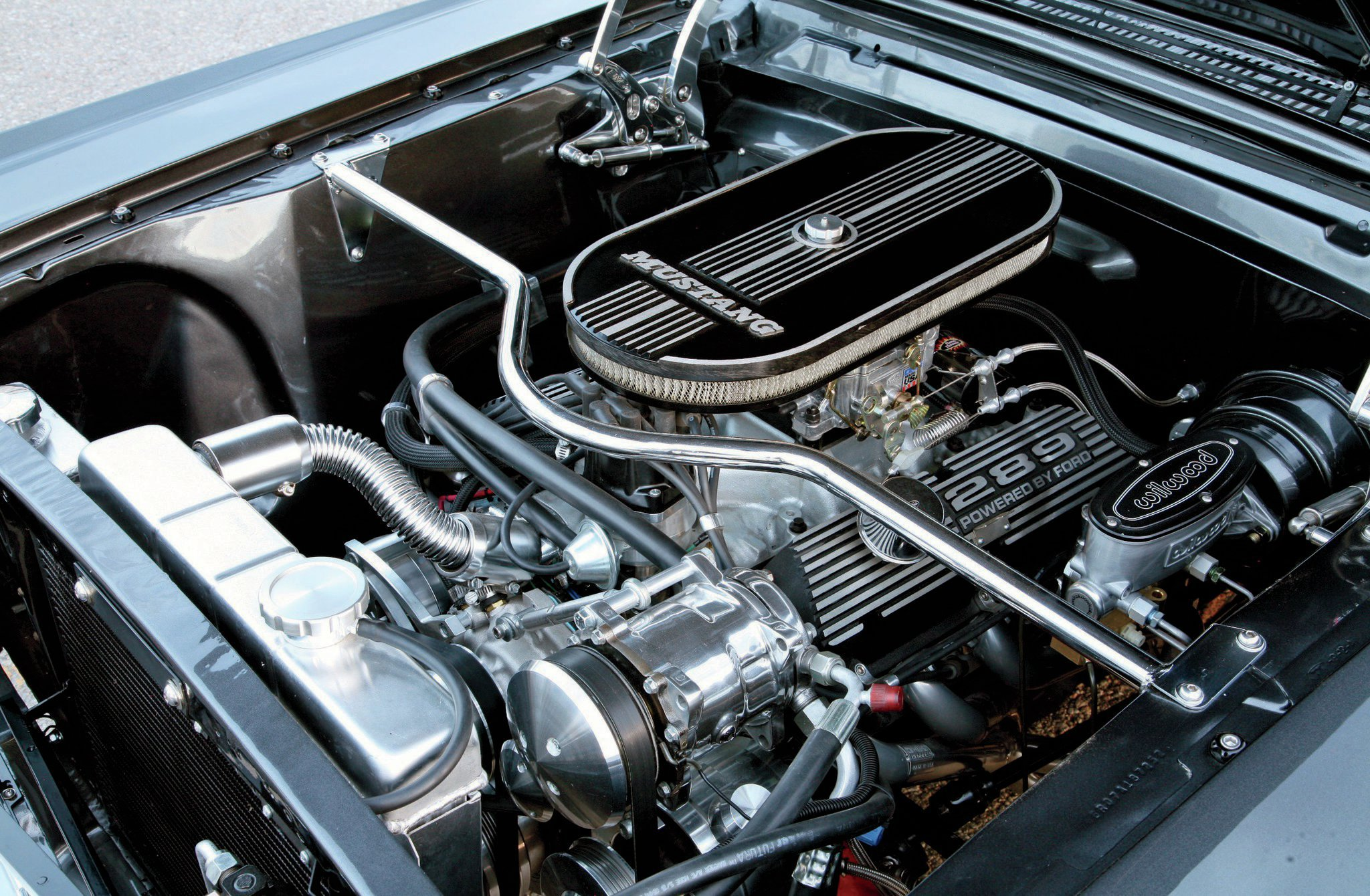 1966 Ford Mustang Coupe Engine View