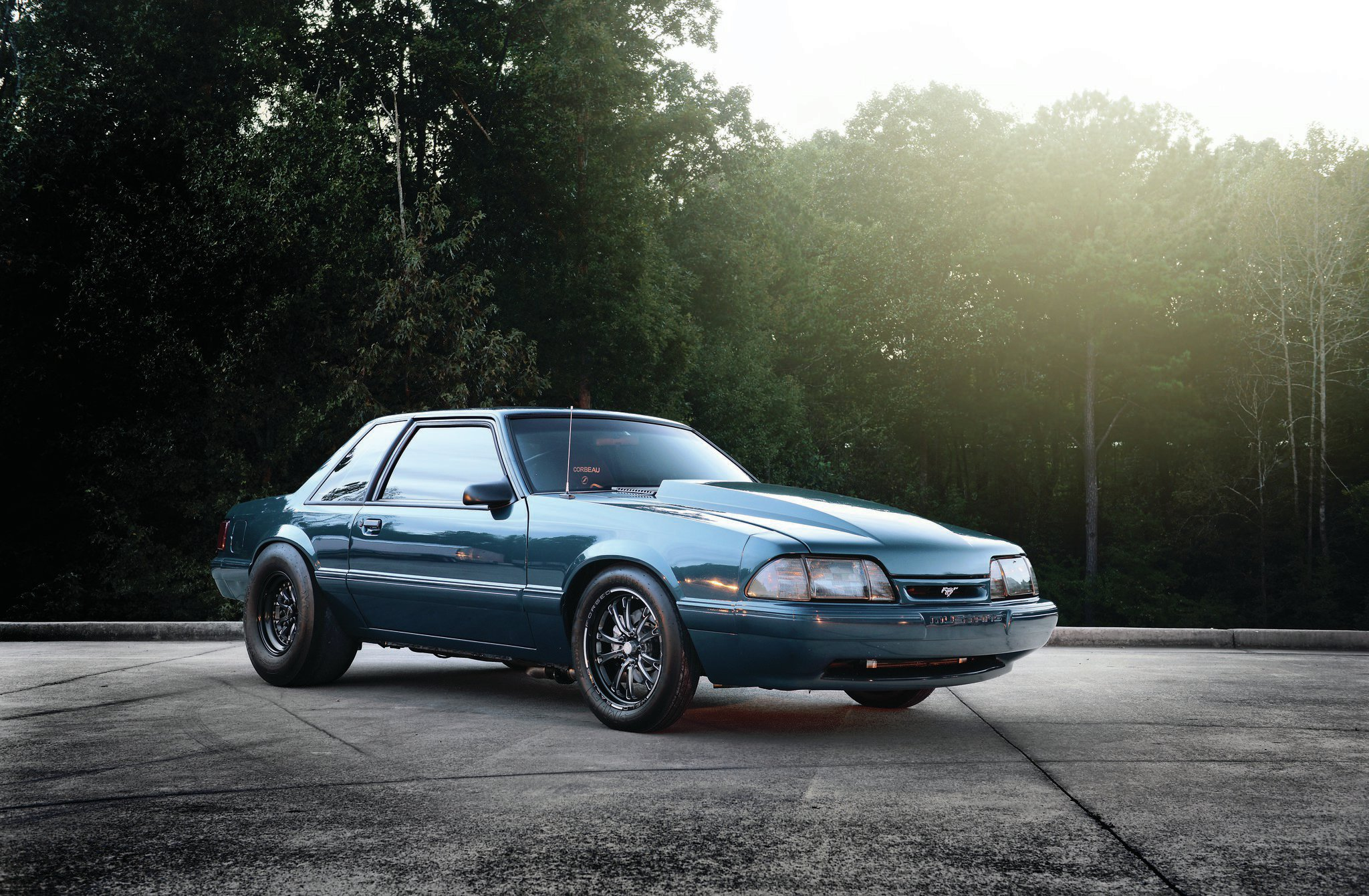 1993 Ford Mustang Lx Coupe Front Side View